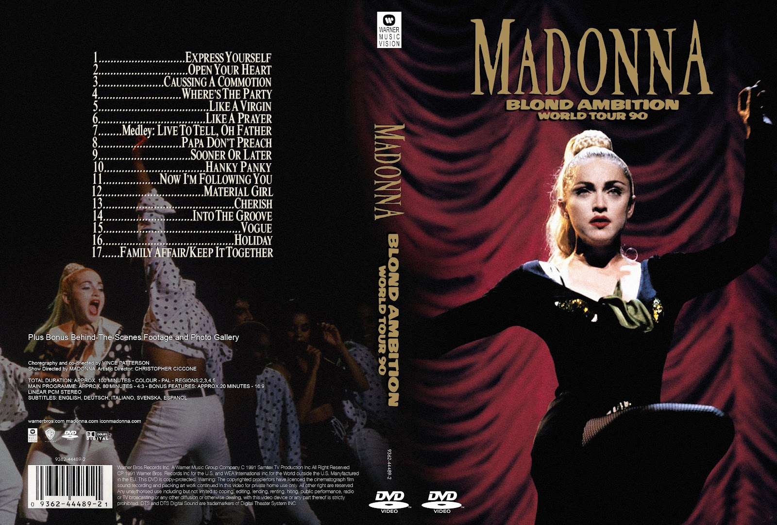 Blond Ambition Tour Madonna Dvd