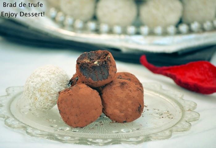 Trufe de ciocolata cu portocale, ghimbir si bailyes