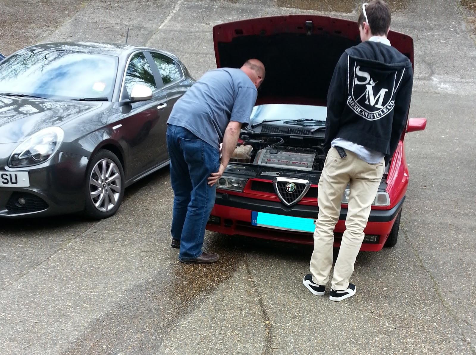 Broken down Alfa Romeo