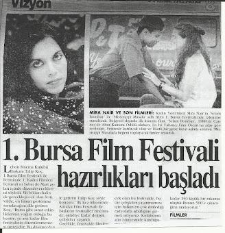 """Bursa' nın """"İlk Uluslarası Film Festivali"""" hazırlıkları başladı (5.KASIM.1995.PAZAR)"""