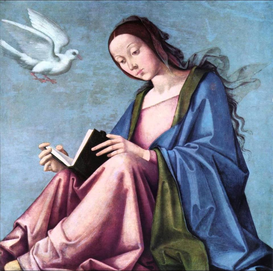 Lorenzo Costa il Vecchio. Annunciation (Reading Mary)