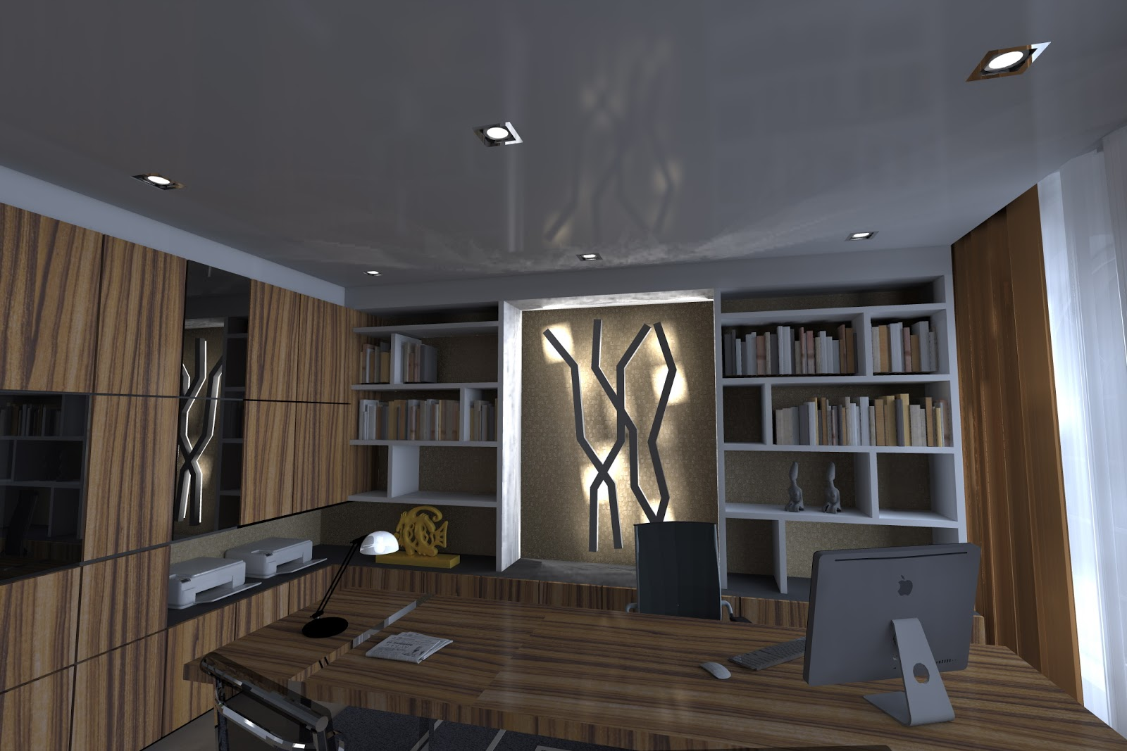 Designer hugo vaz home office cliente particular zimbabwe for Office design zimbabwe