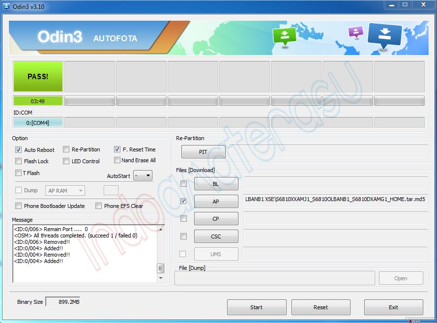 Cara Install Ulang/ Flashing Firmware Samsung Galaxy Fame S6810 3