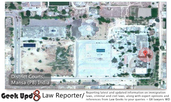 District Courts, Mansa - 151505, Punjab, India (Google Maps)