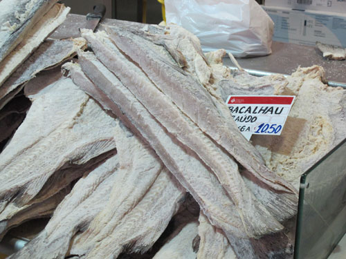 Bacalhau in a Portuguese supermarket