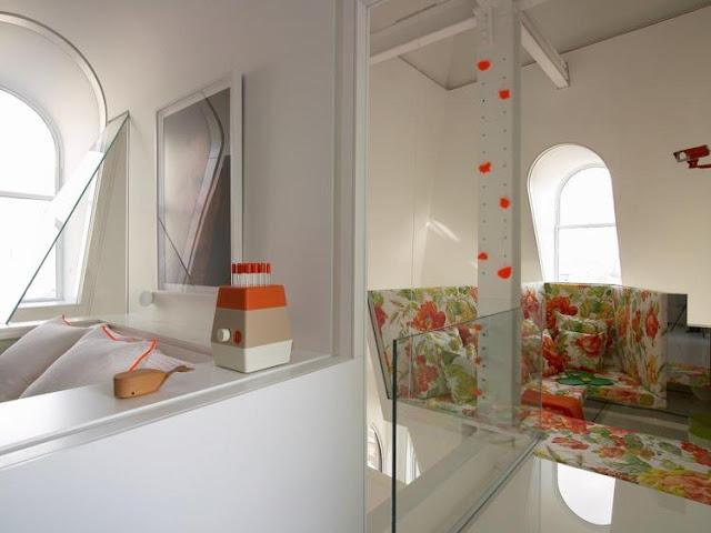 Modern white reading corner