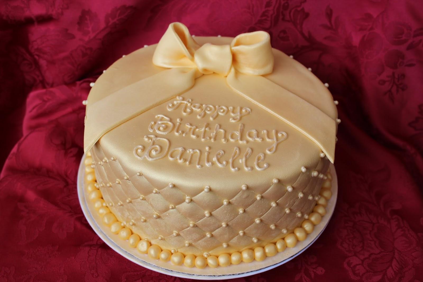 Cake Flair Golden Birthday Cake