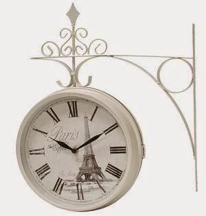 reloj estacion dos caras blanco