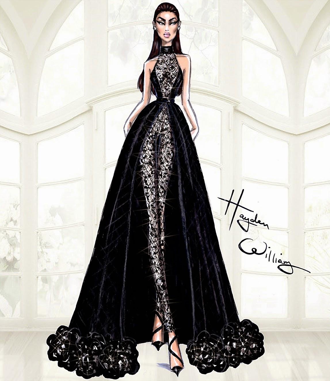 Hayden williams fashion illustrations hayden williams for Couture fashion designers