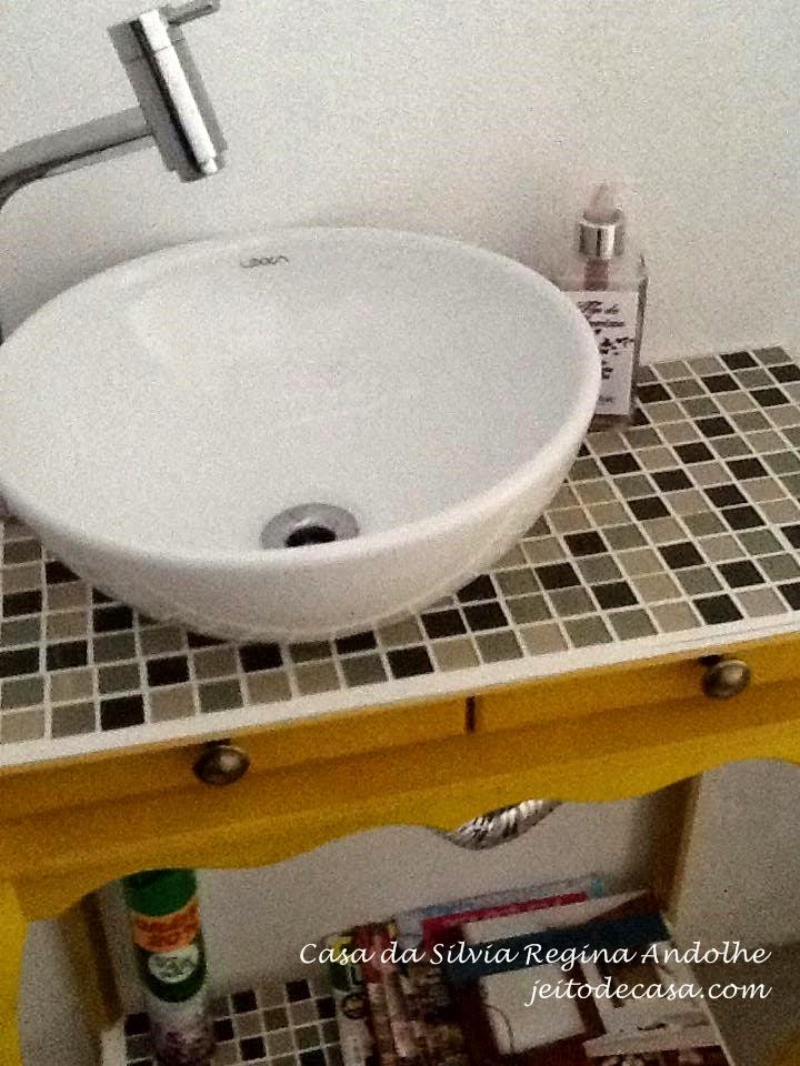 bancada de aparador artesanal para lavabo