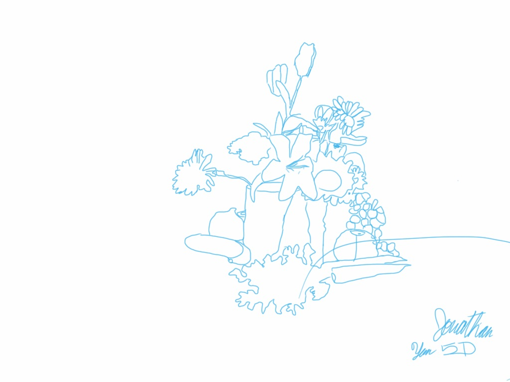 Contour Line Drawing App : Center school art contour line still life drawings grade