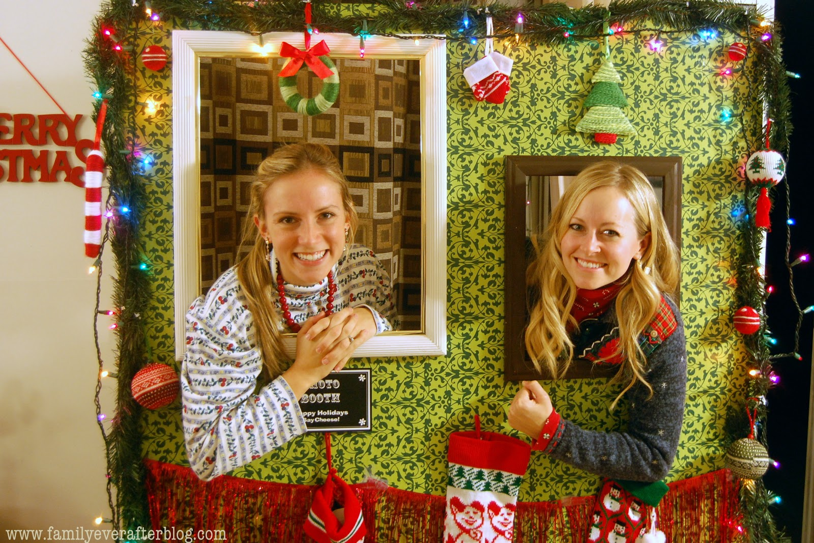 Beautiful Tacky Sweater Christmas Party Ideas Part - 10: Ugly Christmas Sweater Party Ideas Photo Booth - Family Ever After Ugly  Sweater Party Ideas How
