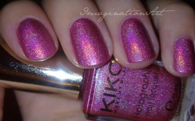 kiko_402_olografico_olographic_lavish_oriental_jewel_pink_swatch_swatches_unghie_nail_polish_laquer_smalto