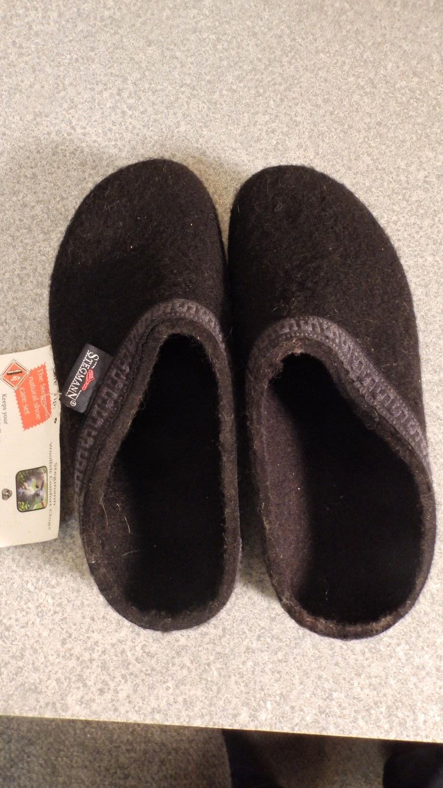 http://www.ebay.com/itm/Stegmann-wool-felt-clogs-size-7-1-2-black-never-worn-/321690391301?pt=LH_DefaultDomain_0&hash=item4ae63dd305