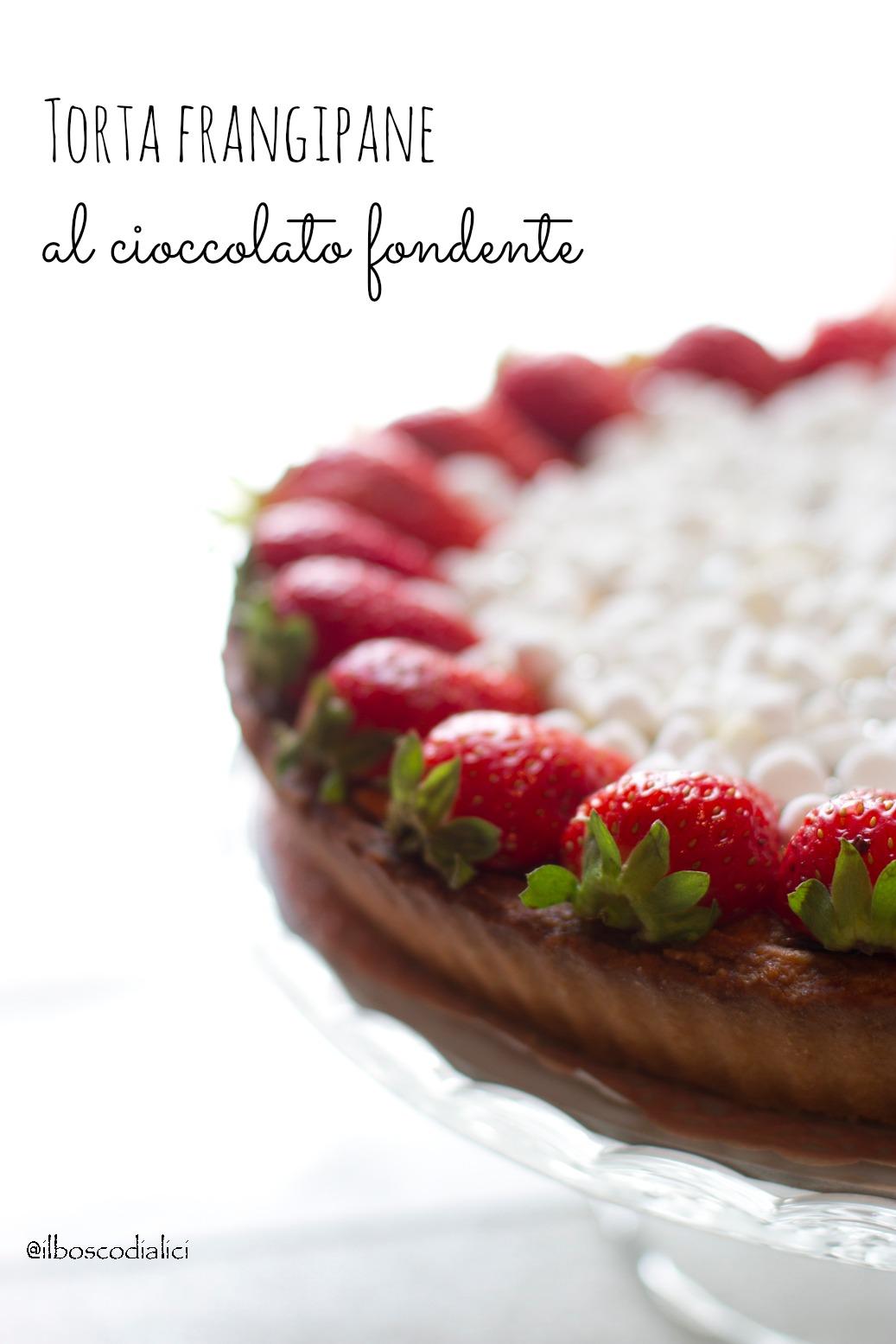 torta frangipane al cioccolato.......quando una torta da credenza si crede una regina