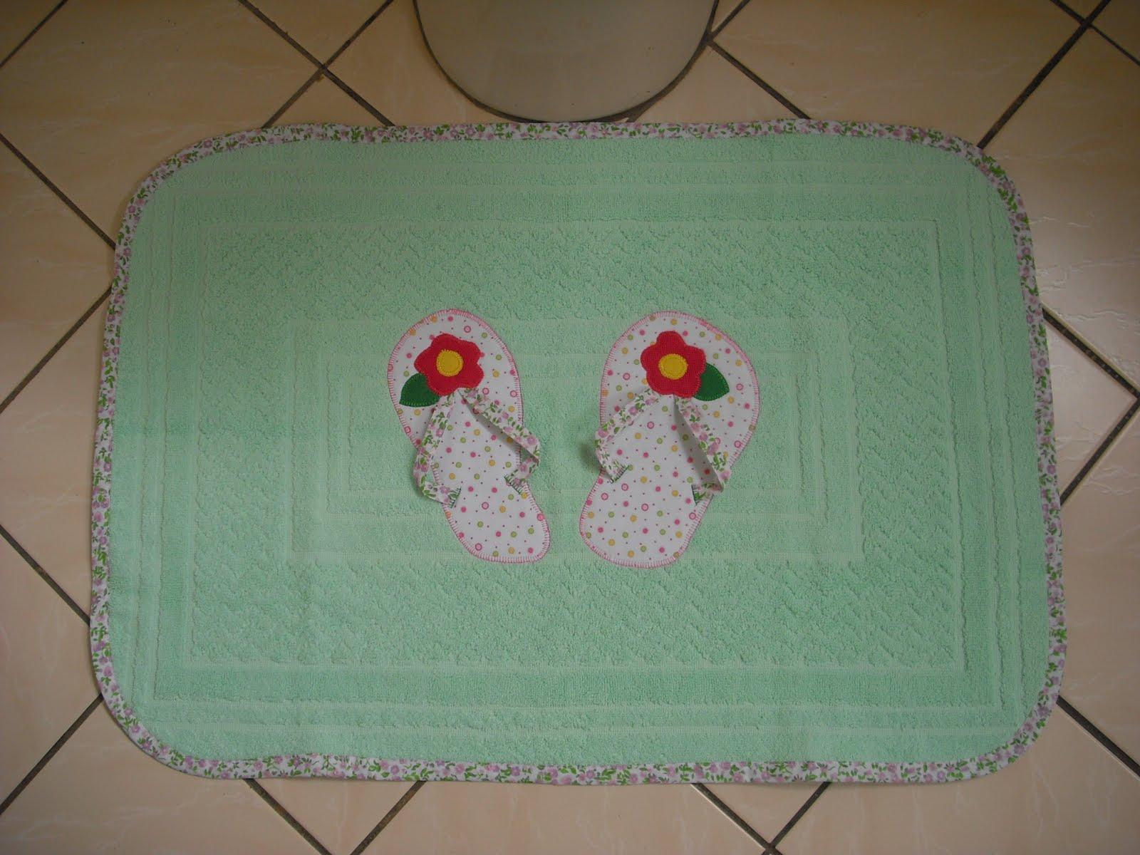 Patchwork Tapete De Banheiro : Tapetes Maria – Arte em barbante: Patchwork no banheiro – 2