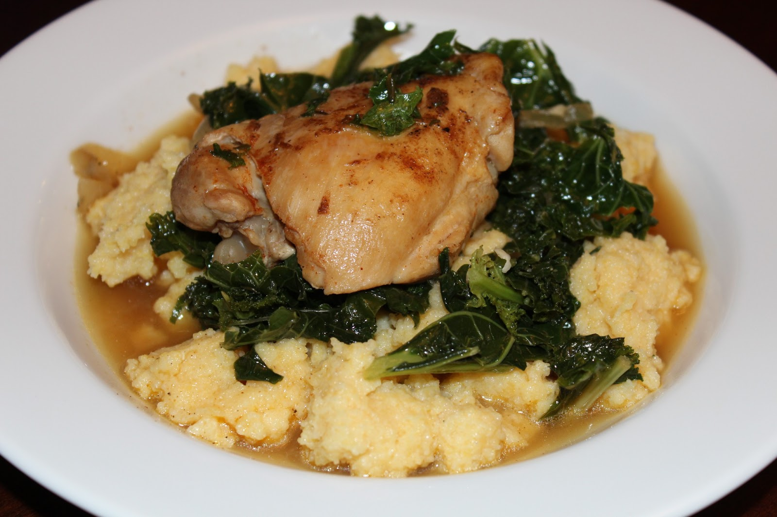 The Garlic Press: Google's Braised Chicken and Kale