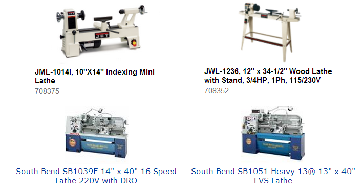 Wood and Metal Lathe Sizes