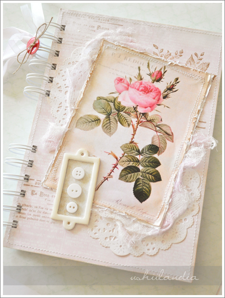 romantyczny notes - scrapbooking ushii