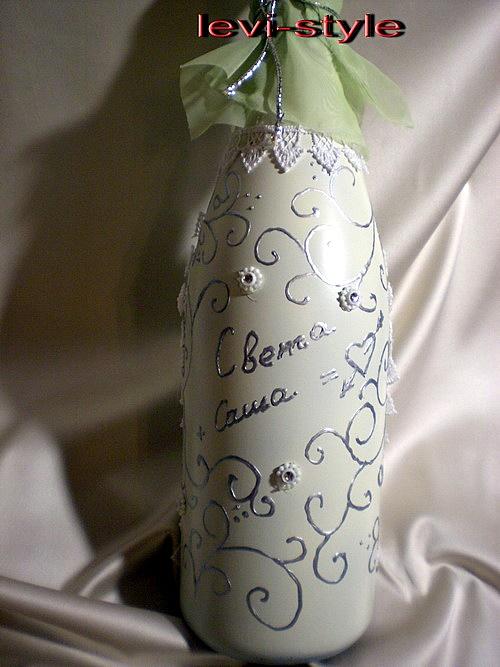 Бутылки своими руками серебряные
