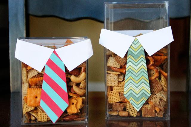Molde de gravata de papel para presente do Dia dos Pais