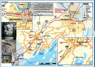 Freeport - Brunswick bicycle map