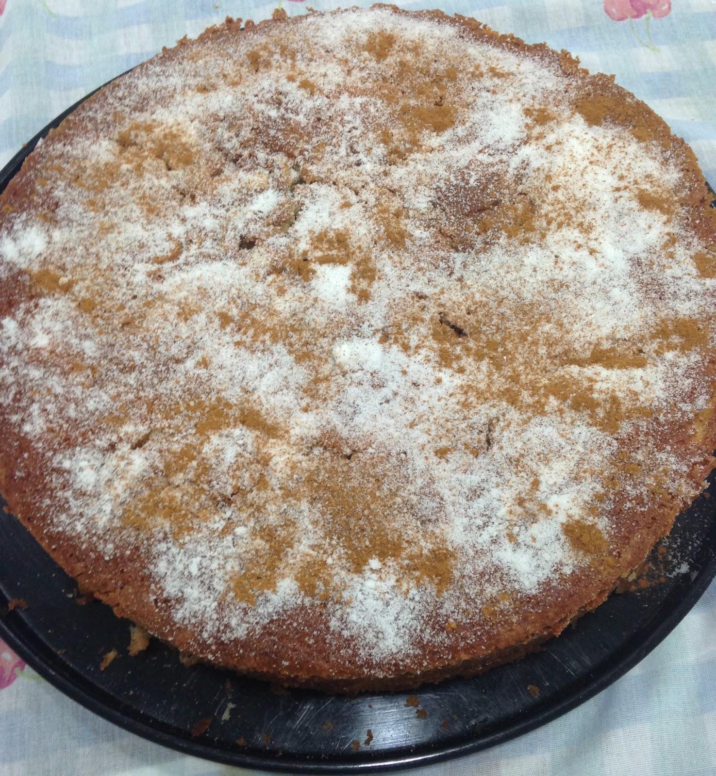 bolo de maçã com canela