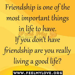 Friendship is one of the most important things in life