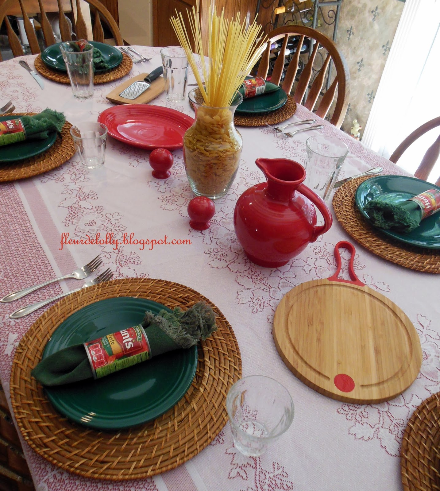 Fleur de lolly lasagna for lunch table setting Simple table setting for lunch