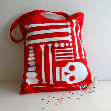 Polar Bag of Bones Tote Bag