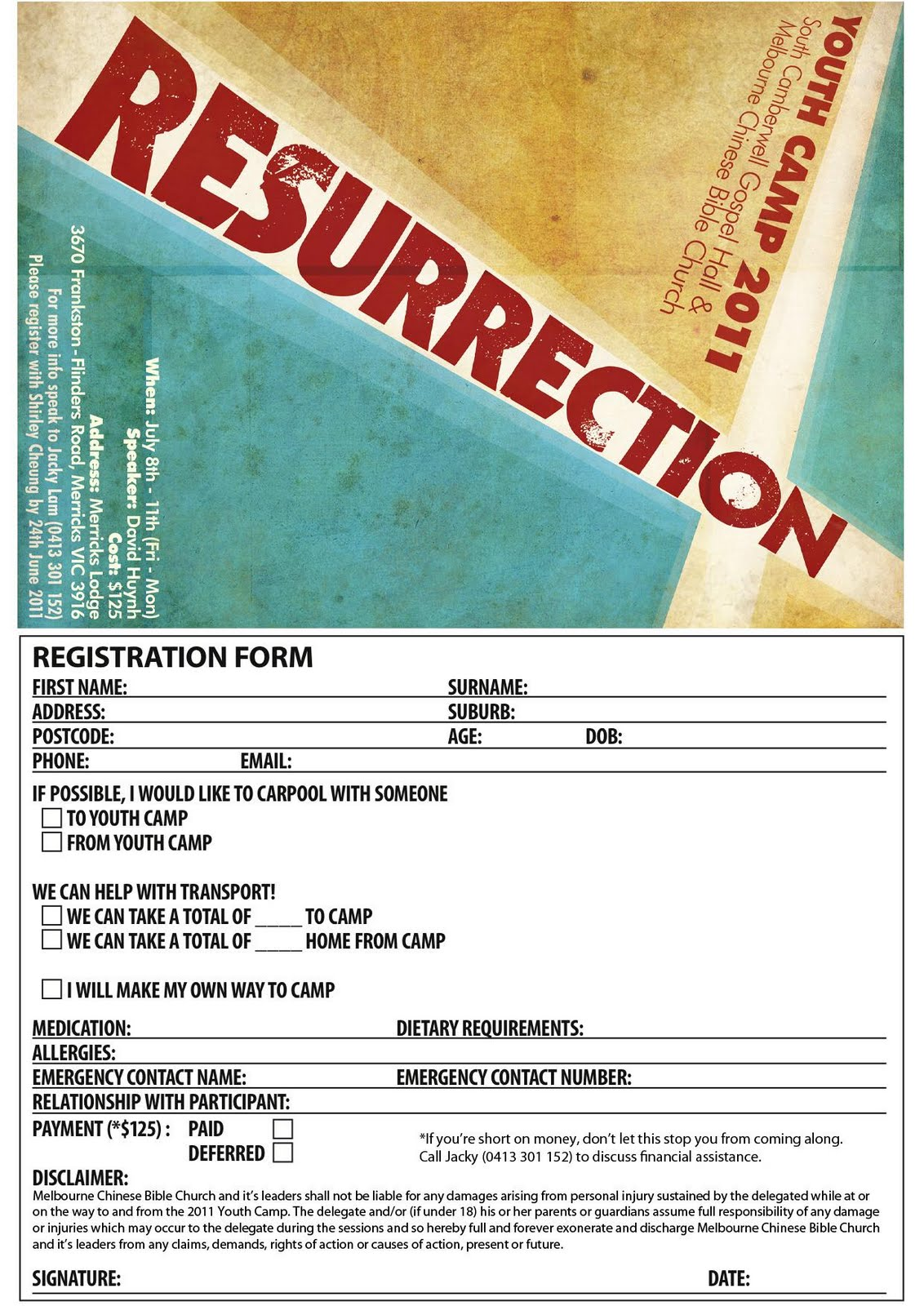 BLshuffs: Camp Registration Form