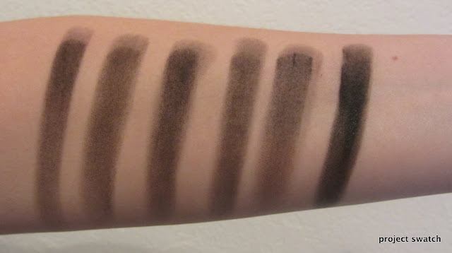 Matte black eyeshadow comparison swatches