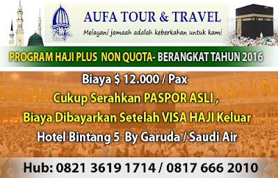 Paket Umroh Haji ONH Plus Non Kuota Aufa Tour