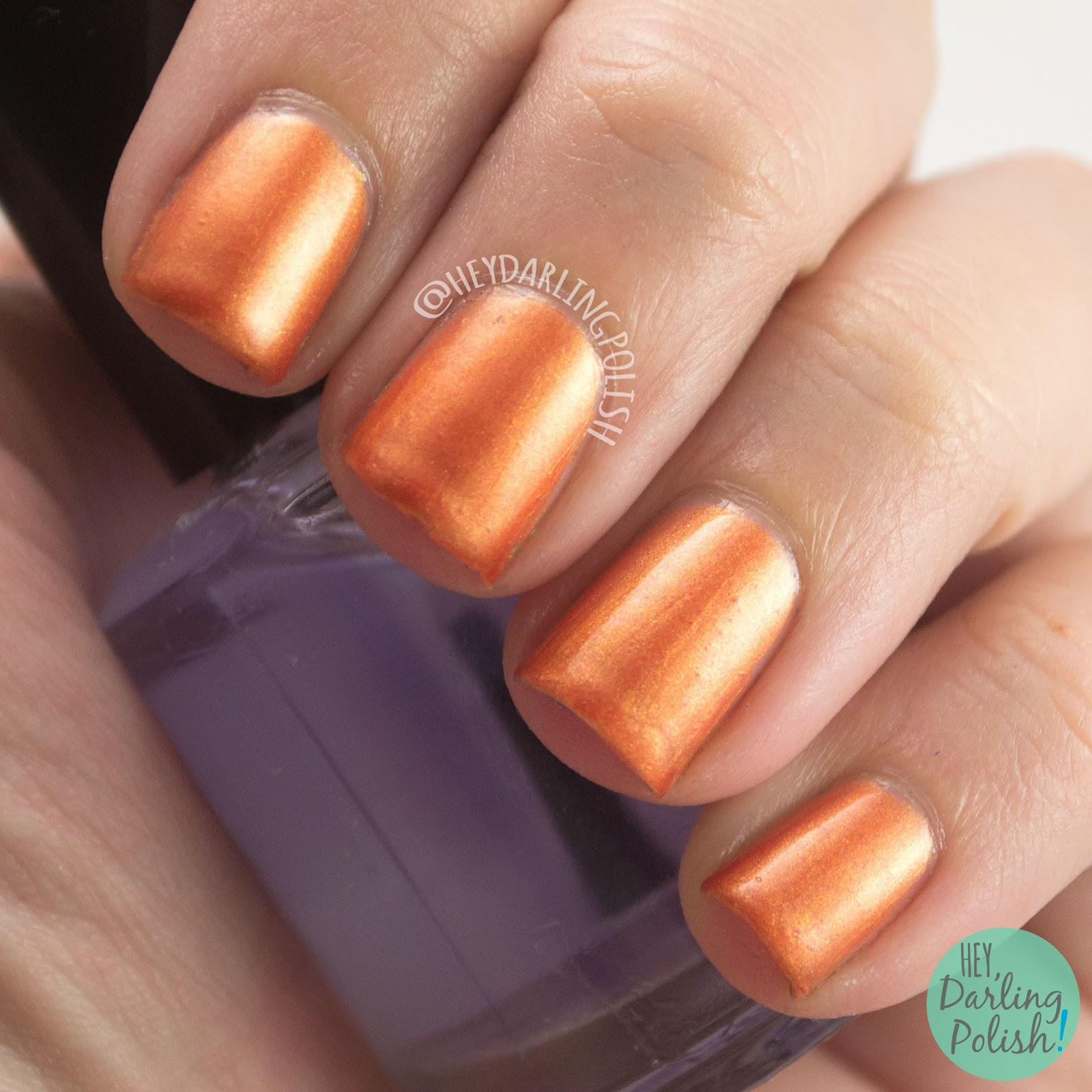 autumn leaves, orange, shimmer, nails, nail polish, indie, indie polish, liquid kandi, halloween, october sweet treat box, swatch