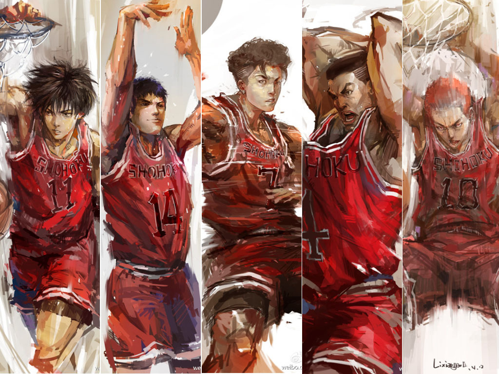 Otakus antiga escola VS Moda otaku Slamdunk-wallpaper