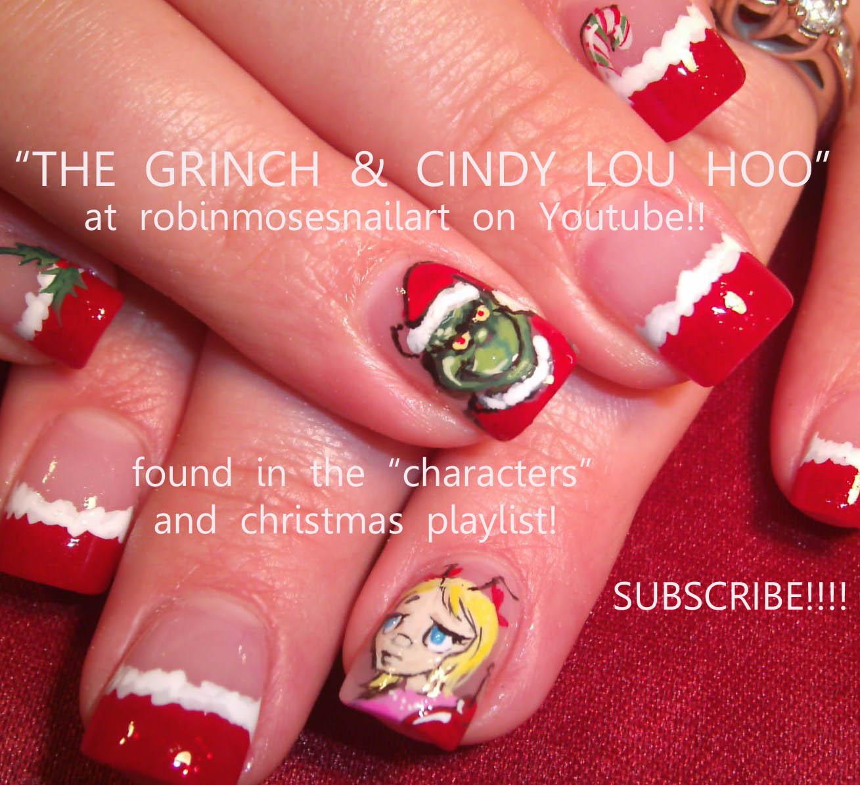 the grinch nails, the grinch nail art, christmas grinch nail, new ...