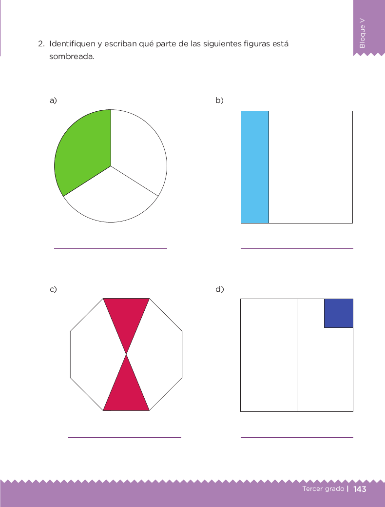 ¿Qué parte es? Desafios matemáticos 3ro bloque 5/2014-2015