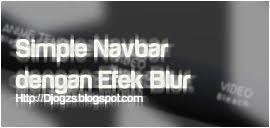 Simple Navbar dengan Efek Blur