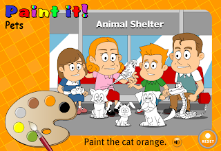 http://www.learnenglish.org.uk/kids/games/paint_pets.swf