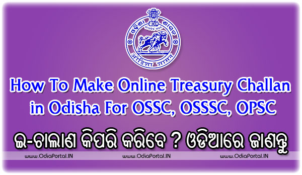 e-Challan: How To Make Online Treasury Challan in Odisha For OSSC, OSSSC, OPSC (Complete Steps In Odia)