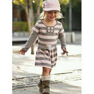 ougho Model Baju Dress Anak Perempuan 2014