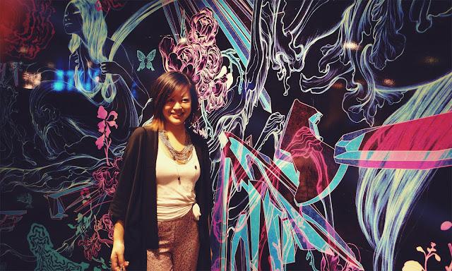 streetstyle printed pants black kimono james jean illustrated wall