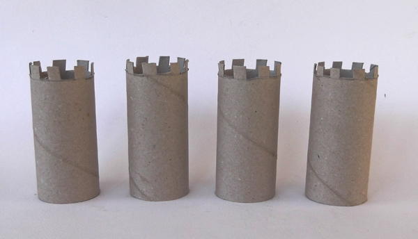 towers, toilet paper roll, toilet paper tubes, diy, kids, crafts, castle