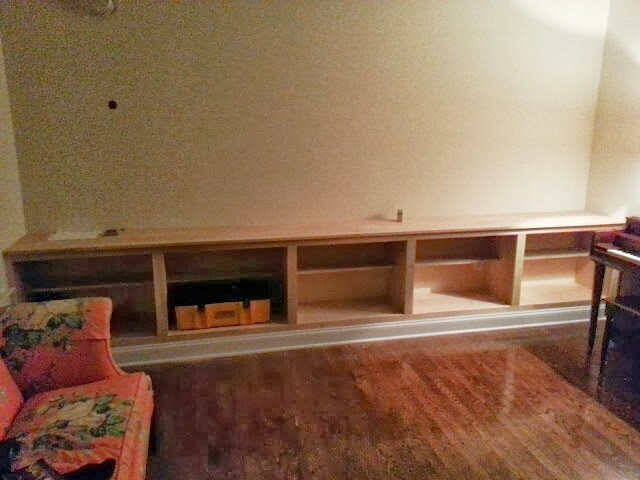 The Cabinet Top Is Made Of The Same Birch Plywood With A ½u201d Baton Of Poplar  To Hide The End Grain. The Hole In The Wall Is Where The Wiring Comes Out.