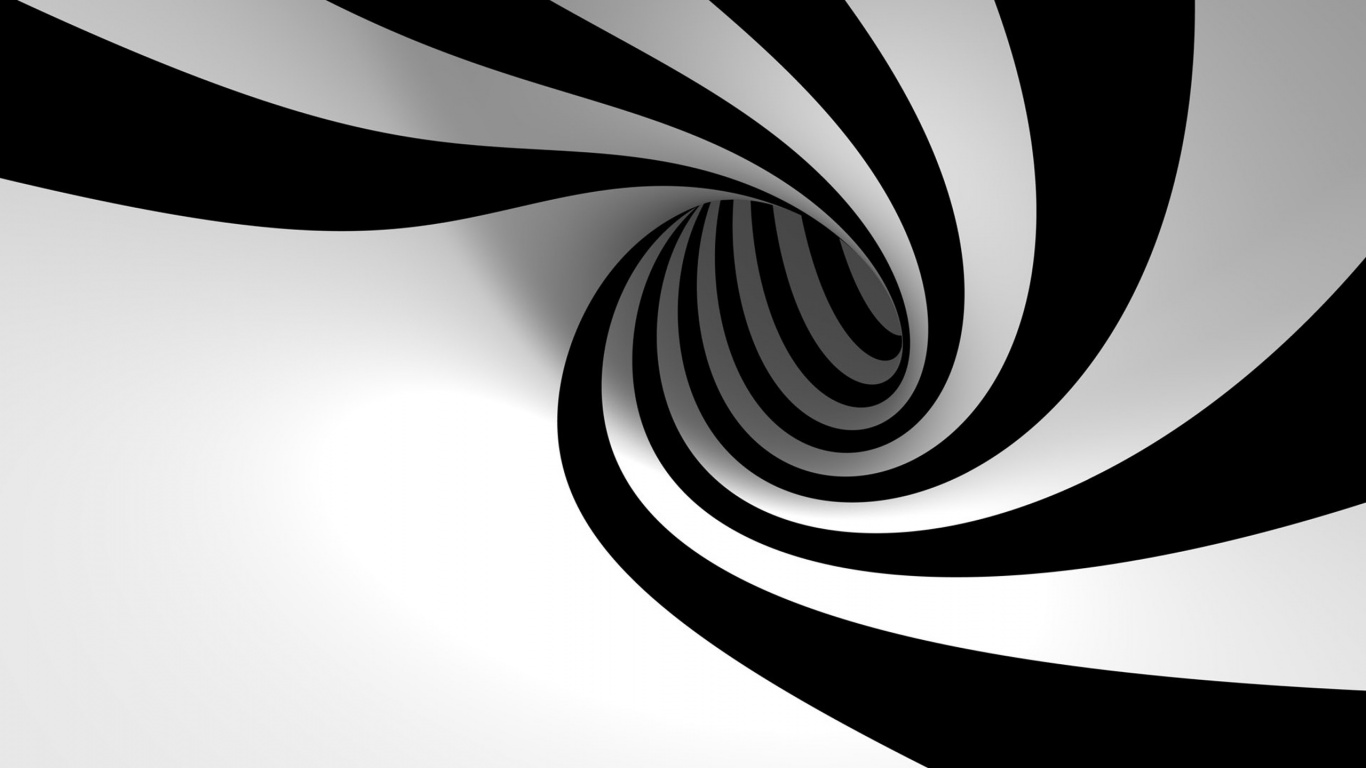 Spank tube 3d black white spiral wallpaper for Black and white wallpaper 3d