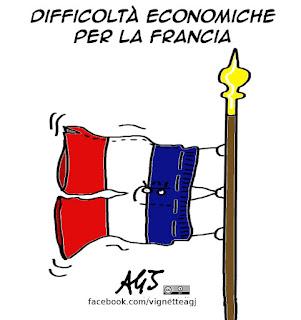 Francia, economia, disoccupazione, vignetta satira