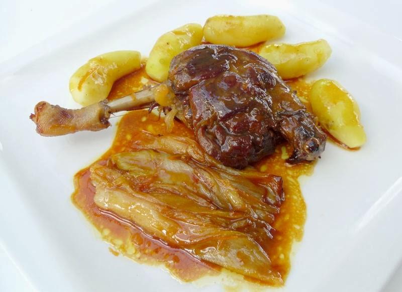 Gourmande ou passionn e cuisses de canard et endives - Cuisiner des cuisses de canard confites ...