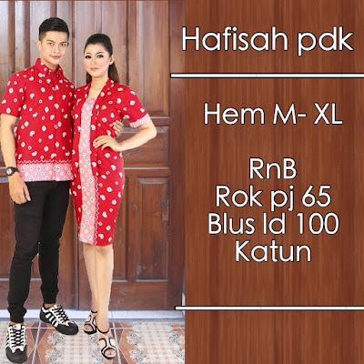 Model baju batik pasangan jumputan merah