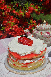 Strawberry Tea Time Torte