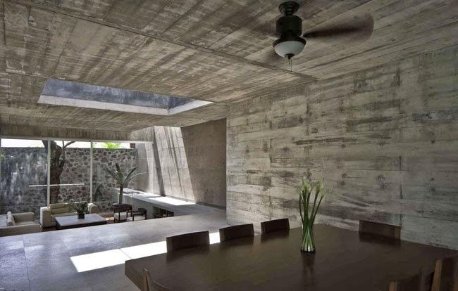 Casas minimalistas y modernas casa de hormigon en mexico for Casa moderna hormigon